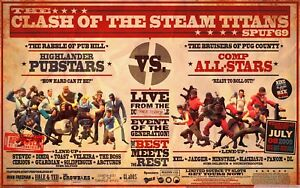 Team Fortress 2 Steam Game Poster Print T529 A4 A3 A2 A1 A0|