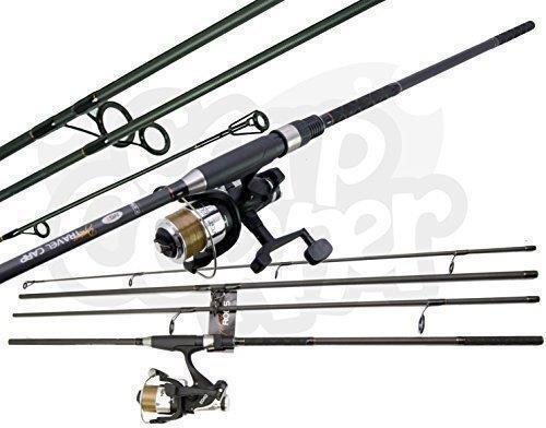 Carbon Travel Holiday Dynamic 11ft 4pc Carbon Carp Fishing Rod & 2BB Reel Set