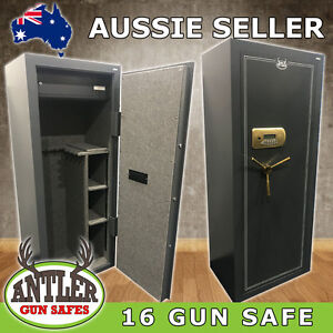 16 Gun Safe Digital Keypad \ 167kg Weight Firearm Rifle Steel Cabinet Cat Abcdeh