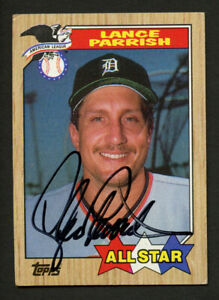 Lance Parrish #613 signed autograph auto 1987 Topps Baseball Trading Card