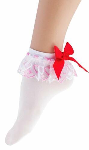 Söckchen Funny Fashion Weiße Strümpfe Mit Rüschen Und Schleife Für Damen