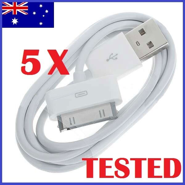 5 x USB Sync Cable Charger for Apple iPhone 4 4S 3GS iPod Touch iPad Data Cord