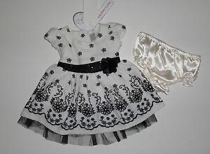 Kleid~USA~80-86~Babykleid~Blumen~beige-schwarz~festlich ...