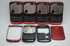 LOT of 5 OEM Blackberry torch 9800 RED 4pc back housing REF USA seller