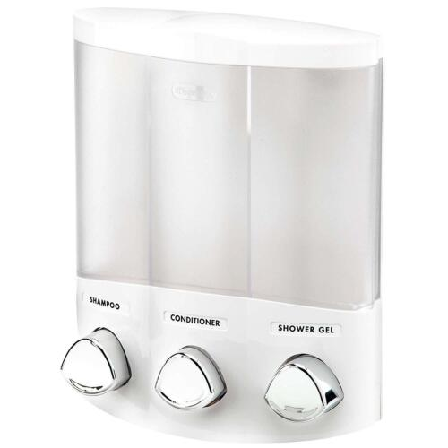Better Living Products Euro Series TRIO 3-Chamber Soap and Shower Dispenser