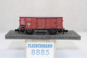 n2602-Fleischmann-8885-Gedeckter-Gueterwagen-M-F-F-E-BOX-Spur-N-mint