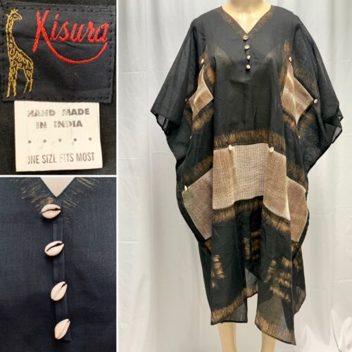 KISURA Hand Made OSFA Lg Kaftan Top India 100% Cot