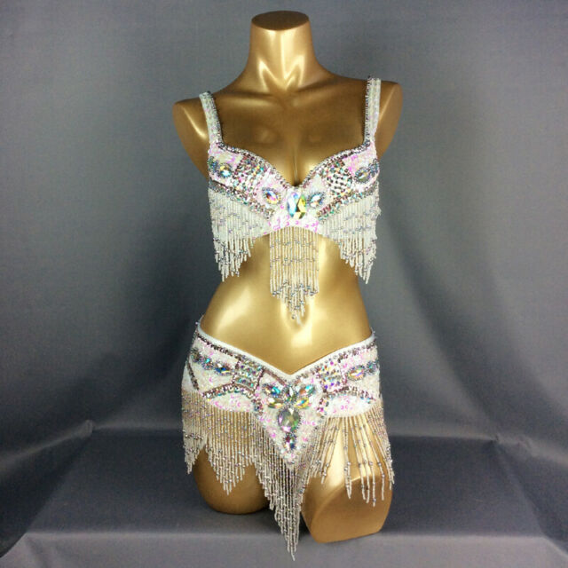 D /&DD CUP C1732 Belly Dance Costume Outfit Set Bra Belt Carnival Bollywood 2 PCS