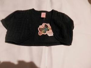 NWT Copper Key Little Girl's Adorable Knit Black Vest Size 2/3