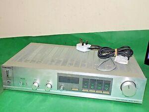 Toshiba-Vintage-Stereo-Verstaerker-Amp-sb-m20-silber-Phono-Qualitaet-Made-in-Japan