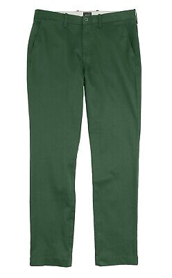 Pratico J.crew Uomo 32/34 - Nwt $ 69 - Pino Verde 770 Fit Cotone Elasticizzato Pantaloni Colori Fantasiosi
