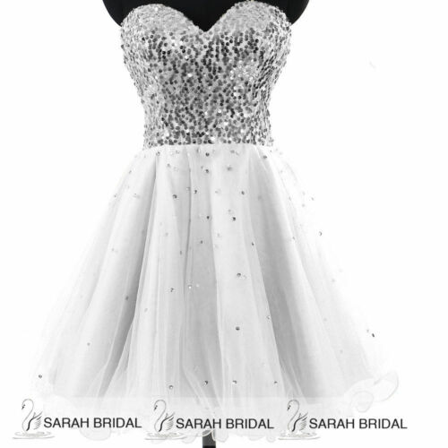 Girls Sequin Short Prom Homecoming Dress Beaded Party Women/'s Evening Ball Gown