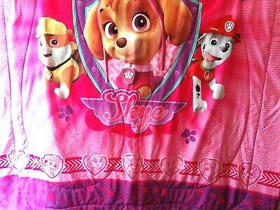 Paw Patrol Nickelodeon Twin Bed Comforter Pink Purple ...