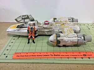 Star-Wars-1999-Lucas-Film-Y-Wing-fighter-with-Pilot-free-shipping-as-is