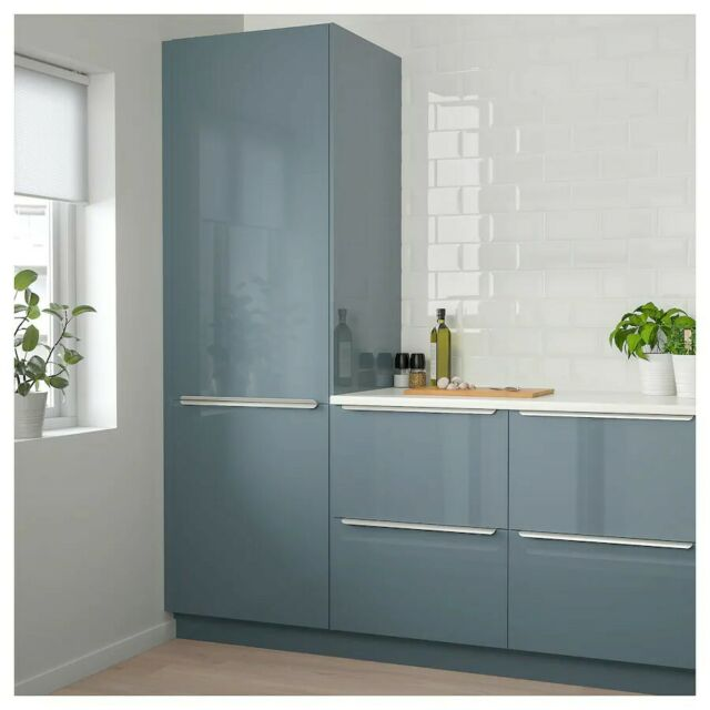 Ikea Abstrakt High Gloss Black Kitchen Cabinet Door 24wx18h For Sale Online Ebay