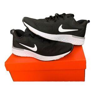 Scarpe-da-ginnastica-Nike-Odyssey-reagire-UK-9-EU-44-Nero-Bianco-Grigio-Lupo-Boxed