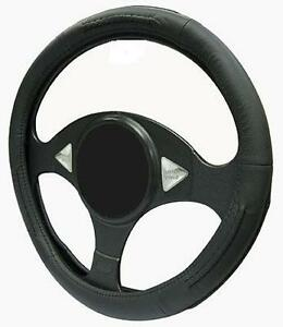 BLACK-LEATHER-Steering-Wheel-Cover-100-Leather-fits-LEXUS