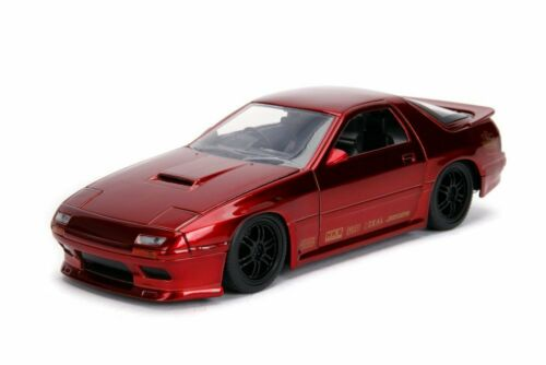 Jada 99755DP1-1//24 scale Diecast Model Toy Car 1985 Mazda RX-7 Red FC