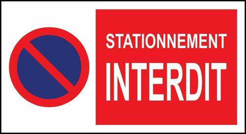 Panneau Signalétique Stationnement interdit