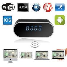 WIRELESS WIFI HIDDEN SPY CLOCK CAMERA FULL HD 1080p MOTION SENSOR VIDEO RECORDER