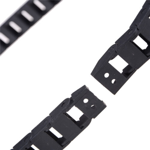 Black Plastic Drag Chain Cable Carrier 10 x 15mm for CNC Router Mill xh