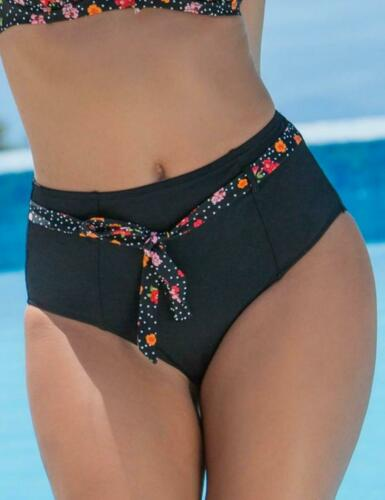 Pour Moi Hot Spots Belted Control Bikini Brief Bottoms 3909 Ditsy Print