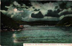 Vintage Postcard - 1907 The Banks Of The Hudson Lower Entrance New York NY #3312