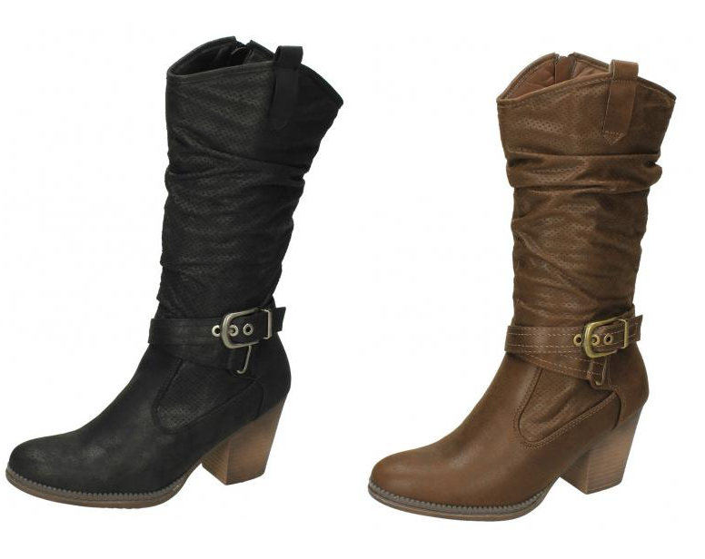 Ladies Down To Earth Mid Calf Boots F5R0951