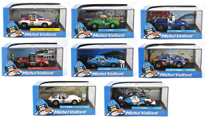 Lot De 8 Voitures Collection Michel Vaillant 1/43 - Bd Diecast Model Car V2