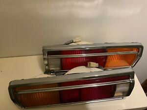 Datsun-510-SSS-1600-tail-lights-Ever-wing-JDM-original-pair-Great-condition