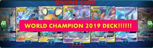 Jirachi Zapdos DECK POKEMON TRADING CARD GAME EN LIGNE ptcgo 2019 Océanie International Champion