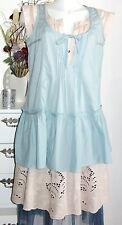 NOA NOA dress Kleid Tunika Léss Voile Solid Arona S 36 blau blue Baumwolle