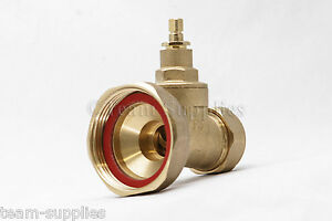 2 x Pumpe Typ Tor Ventil 22mm Messing Kompression Zentralheizung ...