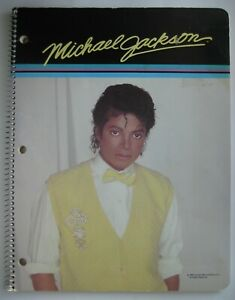 Vintage-Michael-Jackson-Large-Spiral-Notebook-8-1-2-x-11-with-Lined-Paper-1984
