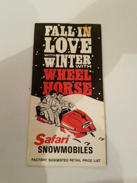 Vintage Safari Wheel Horse Mini Snowmobile Brochure