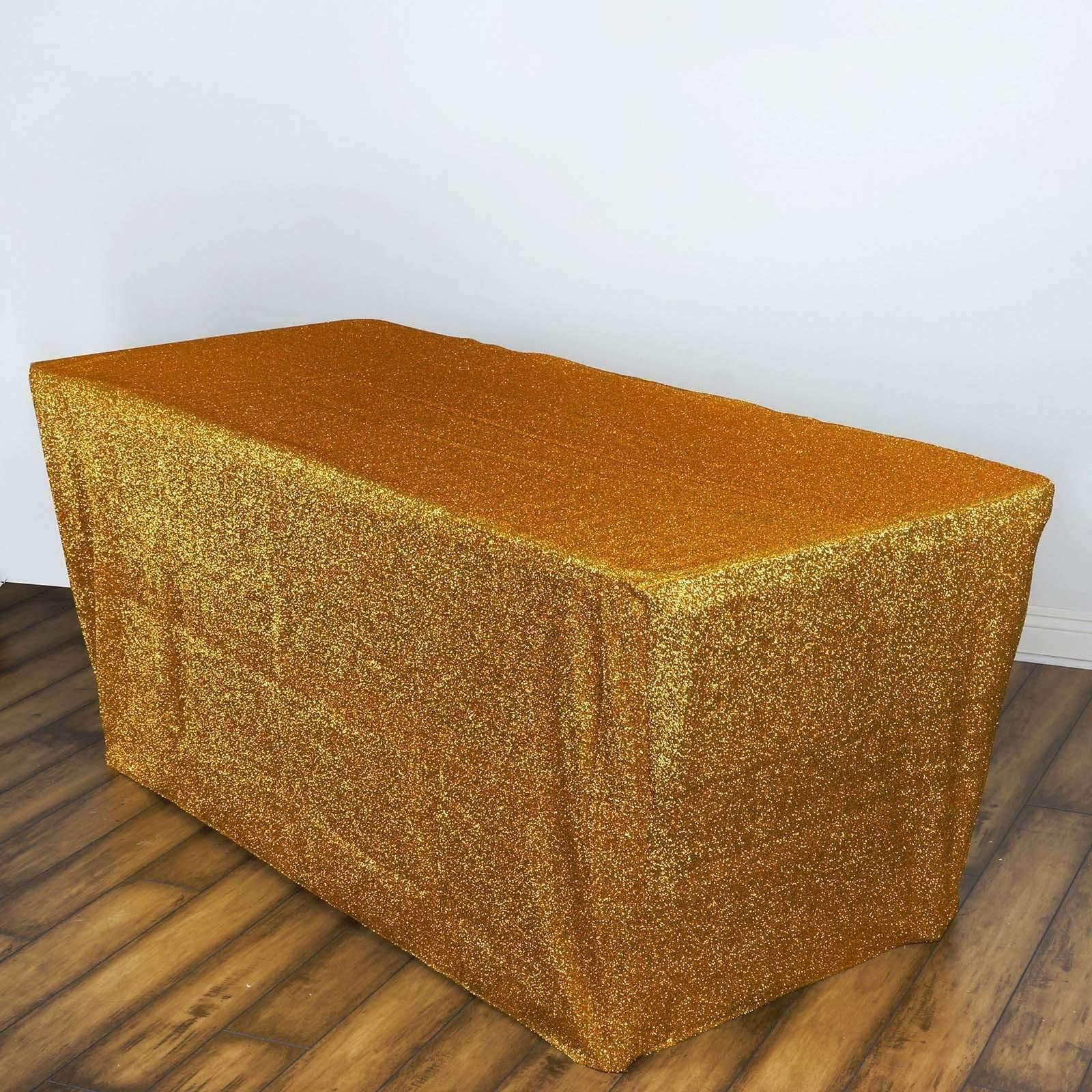 6 Feet Long Metallic Spandex Table Cover WeddingNEW