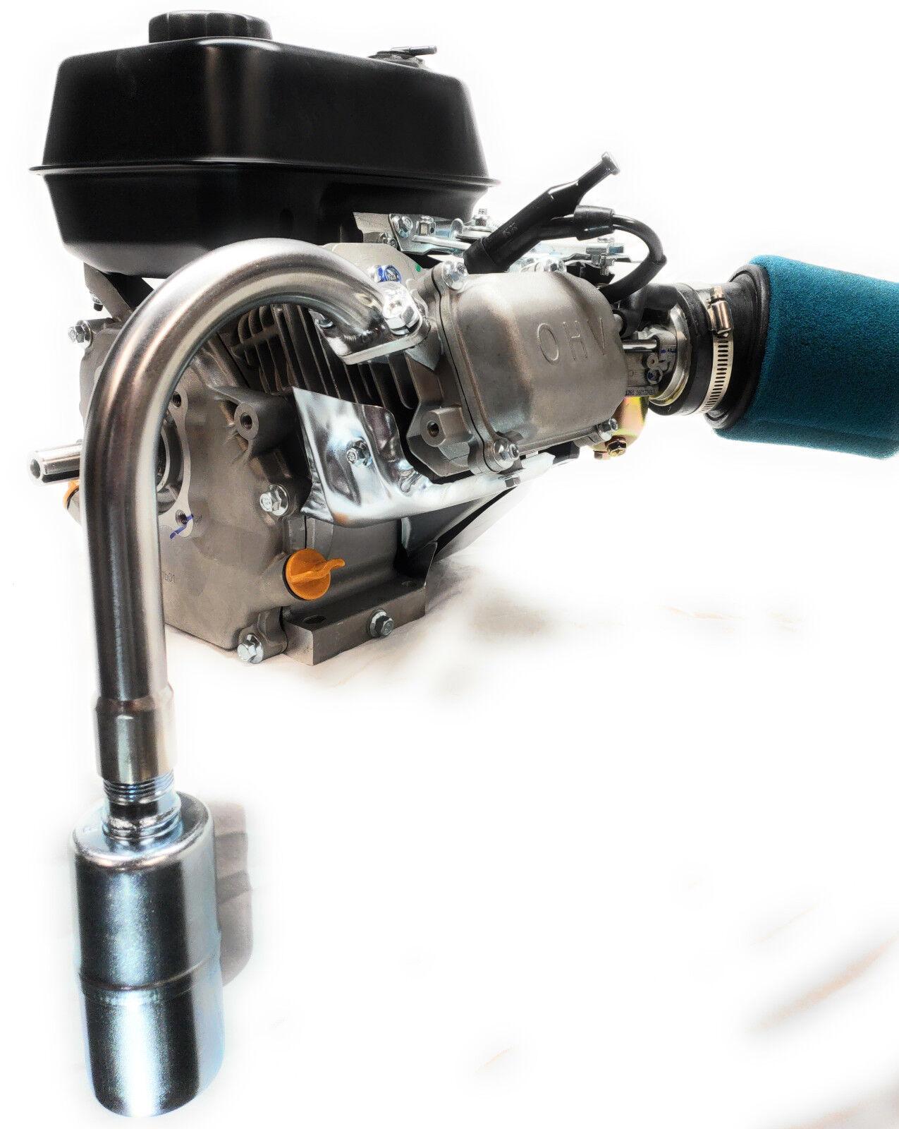 J Exhaust With Muffler for  Honda GX160 & GX200, Predator 212cc, DuroMax 7HP