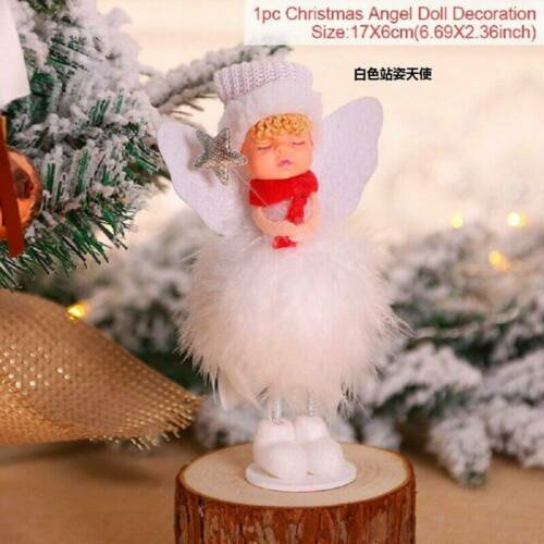 Christmas Angel Doll Toy Xmas Tree Decal Ornament Desktop Decor Party Supplies
