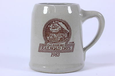 Western Stoneware Monmouth IL Commemorative Mug For Galesburg Railroad Days 1983