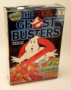 Vintage-Original-Ralston-The-Real-Ghostbusters-14-oz-Empty-Box-Nice-Condition