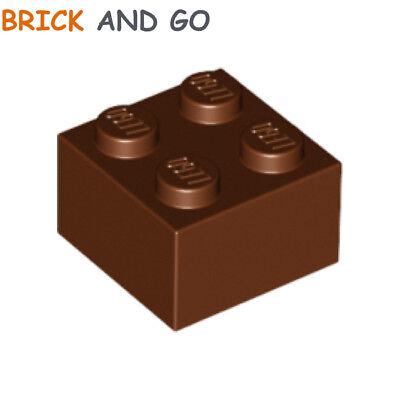 NEUF NEW 8 x LEGO 3005 Brique reddish brown Brick 1x1 marron
