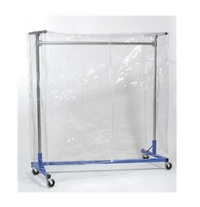 Clear Plastic Cover for Z Rack Heavy Duty Rolling Clothing Garment