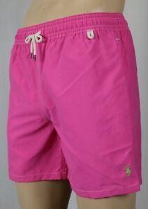 5250908dfb Image is loading Polo-Ralph-Lauren-Pink-Swim-Shorts-Trunks-Green-