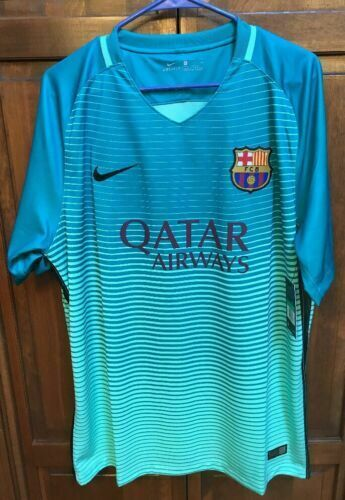 premium selection 2a1fa 9f109 Nike FC Barcelona 2016-17 Stadium Third Soccer Jersey Shirt ...