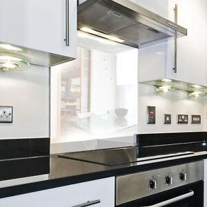Details zu KÜCHENRÜCKWAND Spritzschutz Küche Gehärtetes Glas Farbe  einfarbig Weiß