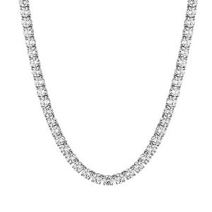 Men Tennis Link Necklace 24 Inch Solitaire Simulated Diamond Chain 8mm Hip Hop