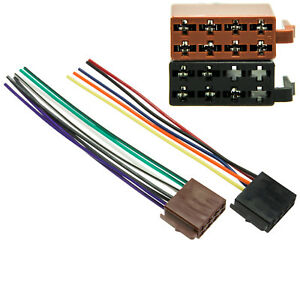 Auto-Radio-Adapter-Kabel-Stecker-Kabelbaum-DIN-ISO-16-Pin-Strom-Lautsprecher