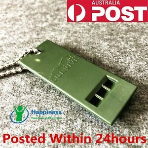 MOUNTAIN OUTDOOR SURVIVAL EMERGENCY HIKING CAMPING WHISTLE KEY CHAIN SAFETY