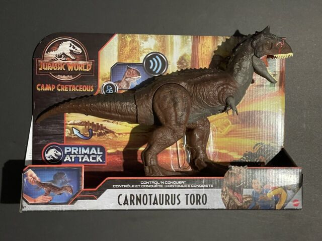 MATTEL JURASSIC WORLD PRIMAL ATTACK CARNOTAURUS TORO - NEW 2020