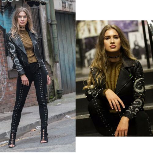 Nieuwe damesfiets parelmoer imitatie verfraaid jas lederlook met damesmode RPqa1R8wx